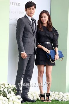Jang Dong Gun and Go So Young at Lee Byung Hun and Lee Min Jung wedding.