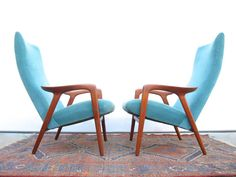Pair of Alf Svensson Teak Lounge Chairs by elefantdesign on Etsy