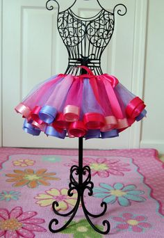 Pretty Princess Satin Ribbon Trim Tutu  Light by ThreePrincessBows, $45.00