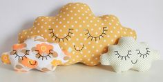 eyes for girls' toothfairy pillows