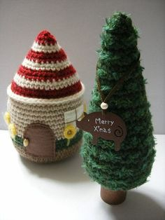 Little house (Free - Japanese) Crochet Chart, Free Crochet, Knit Crochet, Crochet Patterns, Denim Crafts, Yarn Crafts, Crochet Winter, Crochet Christmas, Merry Christmas And Happy New Year