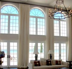Nice DIY Extra Long Curtains Ideas with Best 20 Tall Window Curtains Ideas On Home Decor Tall Curtains Tall Window Curtains, Curtains For Arched Windows, Extra Long Curtains, High Windows, Arched Window Coverings, Window Blinds, Large Windows, High Curtains, Ceiling Curtains