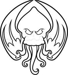 Step 7. How to Draw Cthulhu, Cthulhu Tattoo
