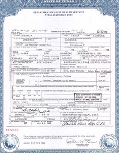 CERTIFICATION OF VITAL RECORD STATE OF CALIFORNIA DEPARTMENT OF ...