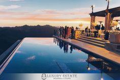 Infinity pool | Wedding Planning & Design by Luxury Estate Weddings & Events | luxuryestateweddings.com