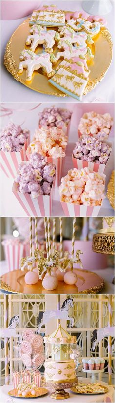 Magical Carousel Birthday Party! Love all the sweet details of the treats!