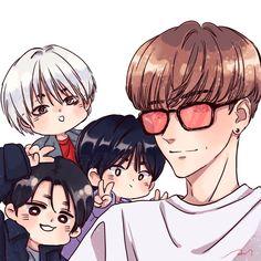 Kim Heechul, Siwon, Eunhyuk, Kpop Drawings, Cute Drawings, Super Junior Songs, Super Junior Leeteuk, My Superman, Last Man Standing