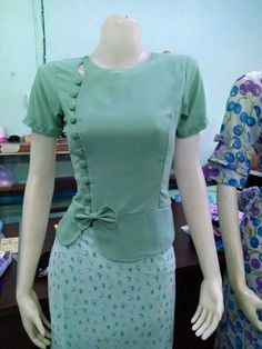 Cute idea for top, myanmar fashion