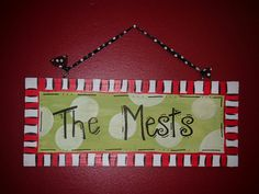 Wooden Family Name Door Sign by laura611 on Etsy, $20.00