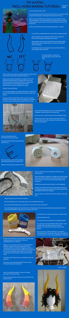 Yet another troll horn tutorial by ~IvynaJSpyder on deviantART