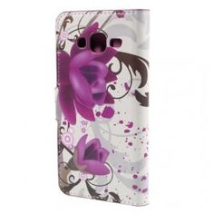 Galaxy J5 violetit kukat puhelinlompakko.