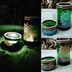 #bottleart #creative #decorative item #handpainted #handmade #candlestand #varioususeglassvase #anukritiarts Candle Stand, Center Table, Bottle Art, Decorative Items, Hand Painted, Vase, Creative, Artist, Handmade