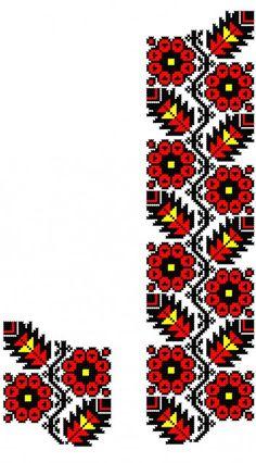 Poze FL117 Beaded Cross Stitch, Cross Stitch Borders, Cross Stitch Flowers, Cross Stitching, Cross Stitch Patterns, Creative Embroidery, Folk Embroidery, Cross Stitch Embroidery, Loom Patterns