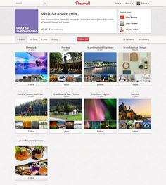 The Scandinavian Tourist Boards' Pinterest Profile - http://pinterest.com/goscandinavia/