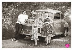 Vintage retro family photography. One of my favorite shoots to date. - Lot116 Photography @Megan Ward Gerber, one day you will have to do this.