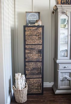 See 20 of the best Ikea Kallax Hacks ideas and the different ways you can DIY them for your home. Like this fabulous industrial storage cupboard