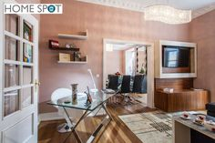 T3 mobilado e equipado na Rua da Madalena - Home Spot Corner Desk, Furniture, Home Decor, Floors, Corner Table, Decoration Home, Room Decor, Home Furnishings, Arredamento