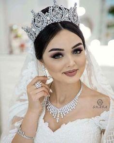 Photoshoot for . Bridal Hair Buns, Wedding Hair And Makeup, Wedding Hair Accessories, Bridal Makeup, Wedding Hair Up, Wedding Veils, Ivory Bridesmaid Dresses, Bride Tiara, Bridal Crown