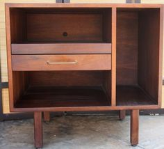 Small Mid Century Credenza Record Player Stand Media by gremlina Media Furniture, Furniture Projects, Furniture Decor, Vinyl Storage, Record Storage, Record Player Console, Record Stand, Record Players, Indian Inspired Bedroom