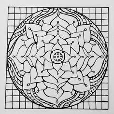 Mandala Coloring Page; hand drawn designs inspired by sacred geomerty, Zentangle & other curious shapes. PDF Download, includes coloring tips