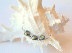 Green Freshwater Pearl Necklace.  By Designedbydonnad.etsy.com