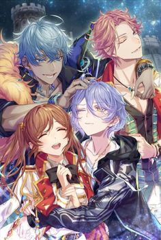 Wizardess Heart+ group photo with Zeus, Caesar, Lucious and Liz! Handsome Anime Guys, Cute Anime Guys, Anime Love, Anime Couples Manga, Cute Anime Couples, Manga Anime, Anime Reccomendations, Disney Princess Pictures, Shall We Date