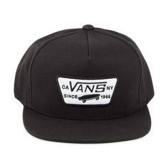 9d93dbb489e Vans Hats Full Patch Snapback Cap - Black