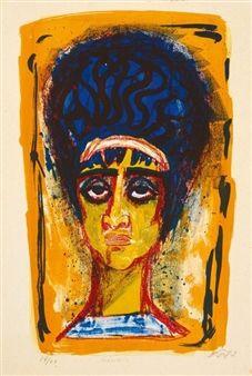 Female Roman By Otto Dix ,1962