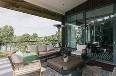 Lovely in Exotic Villa Design Swedish island of Lidingo: Exciting Exotic Villa On Swedish Island Balcony Wicker Furniture