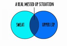 You may know the pain of being a member of the Sweaty Upper Lip Club.