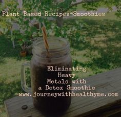 Eliminating Heavy Metals with a Detox Smoothie – Journey With Healthy Me