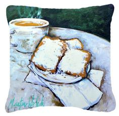 Beingets Breakfast Delight Canvas Fabric Decorative Pillow MW1008PW1414