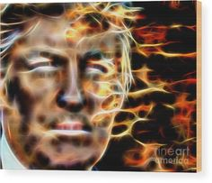 Donald Trump Wood Print by Daniel Janda. All wood prints are professionally printed, packaged, and shipped within 3 - 4 business days and delivered ready-to-hang on your wall. Choose from multiple sizes and mounting options.