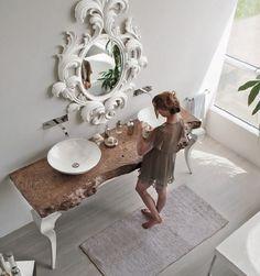 Bathroom Design Inspiration, Bathroom Interior Design, Bathroom Furniture, Home Furniture, Powder Room Design, Vintage Bathrooms, Home Gadgets, Bathroom Styling, Classic Bathroom