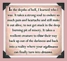 Brokenness is one hell of a teacher!!