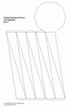 desarrollo plano de unprisma decagonal torcido