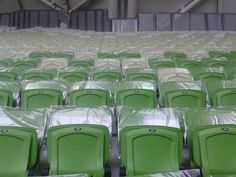 We put plastic pockets on 30,000 chairs!