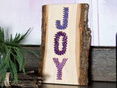 Make a Holiday String Art Sign With Ombre Lavender Hues