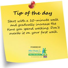Walking Tip #1