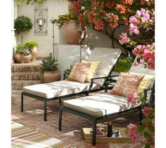 Perfect Summer Day Setting Umbria Planters | Pottery Barn