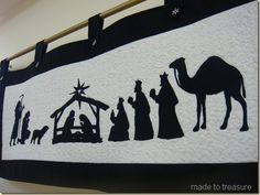 Playing with Silhouettes to Make a Nativity Scene.