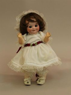 """10"""" ARMAND MARSEILLE GERMANY 323. A.4/0.M. GOOGLY ANTIQUE BISQUE HEAD DOLL.  ..."""
