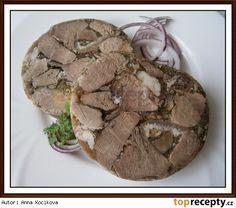 Manželova domácí masová tlačenka Czech Recipes, Snack Recipes, Snacks, Food 52, Sausage, Stuffed Mushrooms, Pork, Food And Drink, Sweets