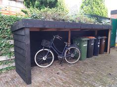 Backyard Storage, Backyard Sheds, Backyard Patio, Backyard Landscaping, Bicycle Storage, Diy Shed Plans, Bike Shed, Garden Projects, Garden Inspiration