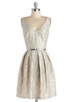 Silver Belle of the Ball Dress | Mod Retro Vintage Dresses | ModCloth.com