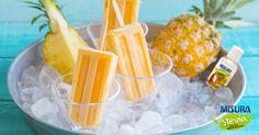 Ancora non siete in vacanza? Consolatevi con questa freschissssima ricetta! #summer #icicle #ananas #stevia #diet #holidays #recipe