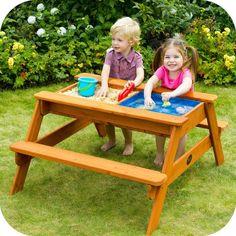 Sevimli minikler için; Kum ve Su oyunları piknik masası