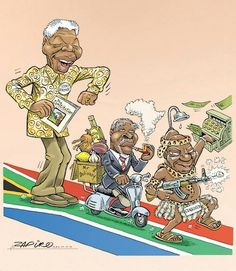 20 Years of Democracy - Or the falling standards of the ANC. Raciss cartoon against black peeple. Deer Hunting Humor, News South Africa, Jacob Zuma, Folk Music, Sociology, Satire, 20 Years, The Past, African