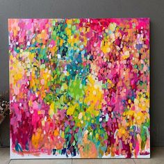 Colorful Abstract Art, Abstract Canvas Art, Abstract Drawings, Canvas Artwork, Colourful Art, Colorful Artwork, Abstract Painting Techniques, Art Inspo, Art Courses