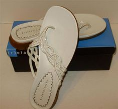e935a835dbfc38 Womens White Thong Sandals Size 10M Womens-NEW in box-Relativity brand-NEW